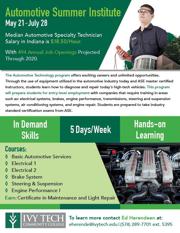 Automotive Technology - Ivy Tech Community College of Indiana