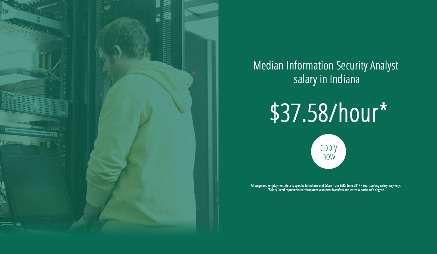Cyber securityinformation assurance ivy tech community college through our nationally recognized center ivy tech students receive the education and training they need for jobs that secure our community xflitez Choice Image