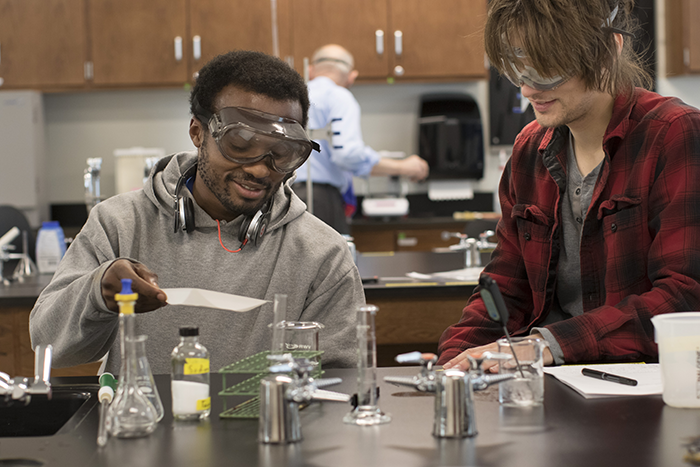 Ivy Tech students in chemistry class