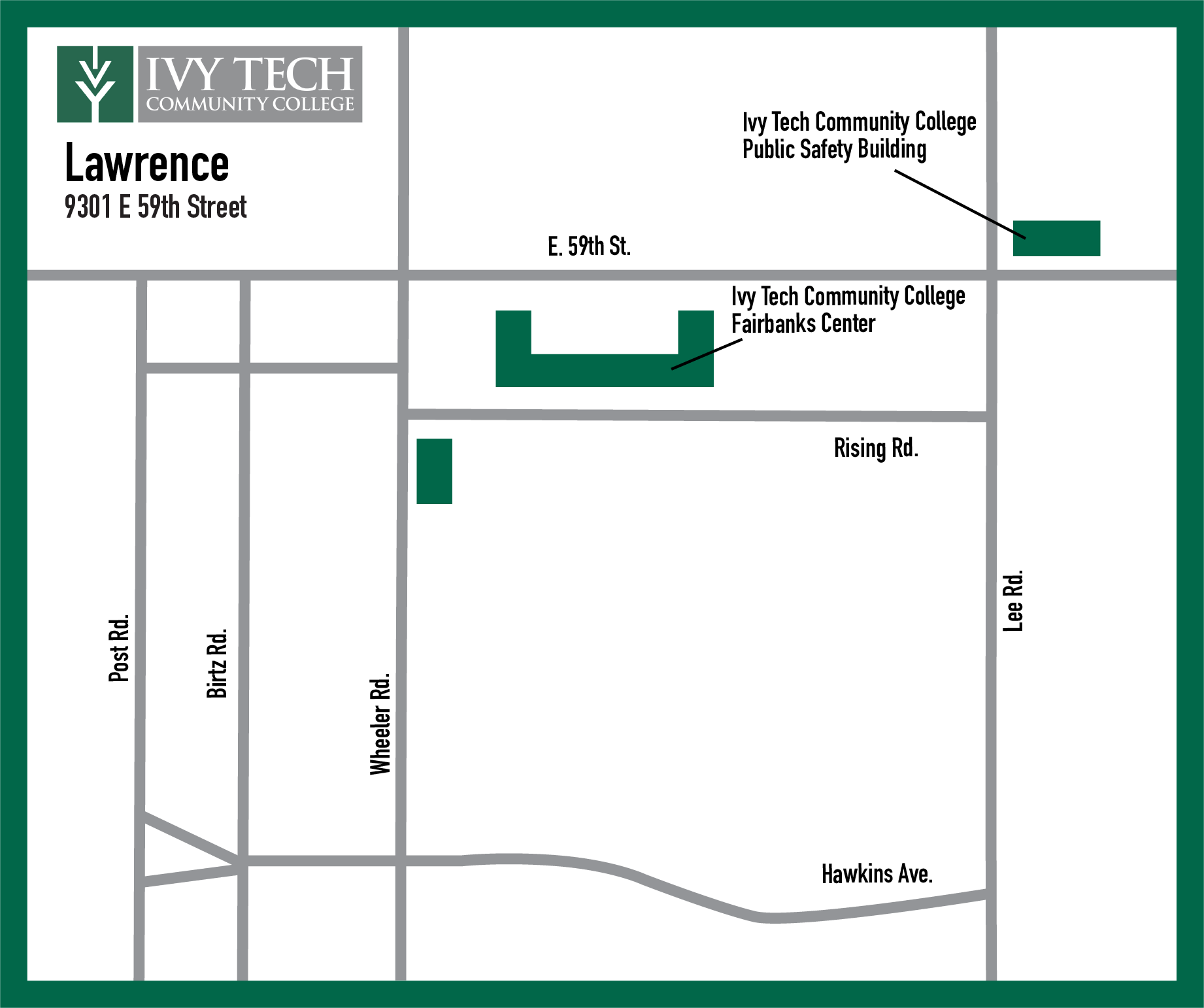 Meridian Community College Campus Map.Campus Maps Ivy Tech Community College Of Indiana