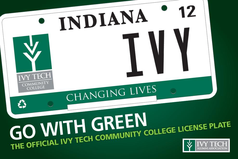 Ivy Tech License Plate