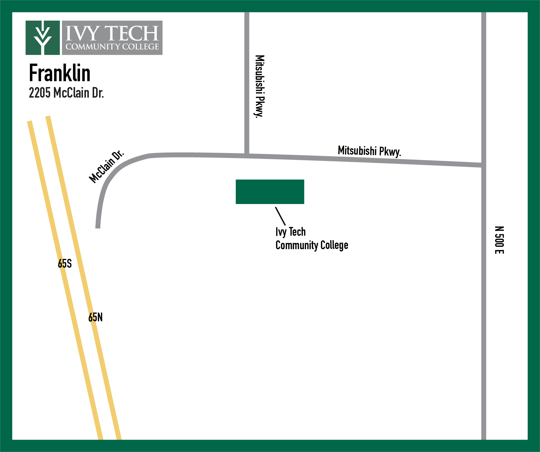 Ivy Tech Franklin map